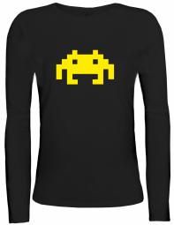 Shirtstreet24 Lady / Girlie Longsleeve Langarm T-Shirt RETRO ALIEN