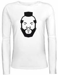 Shirtstreet24 Lady / Girlie Longsleeve Langarm T-Shirt Comic Mr. T