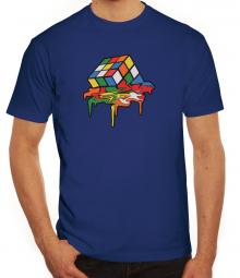 Herrenshirt Rubik's Cube Melting
