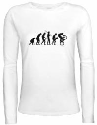 Shirtstreet24 Lady / Girlie Longsleeve Langarm T-Shirt EVOLUTION BMX
