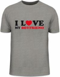 Herrenshirt I LOVE MY BOYFRIEND 2