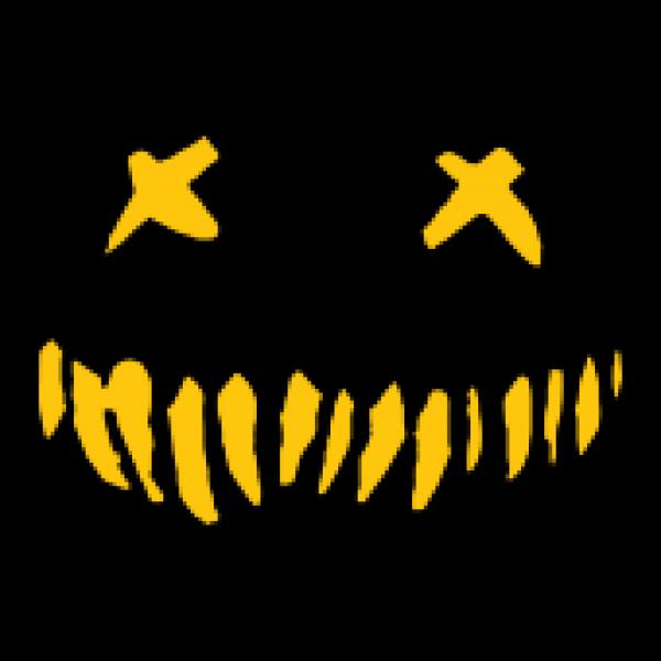 natur Turnbeutel Halloween - Horror Face