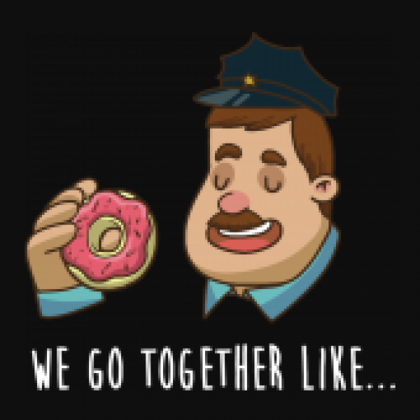 Jutebeutel Earth Positive Donuts + Police Officer
