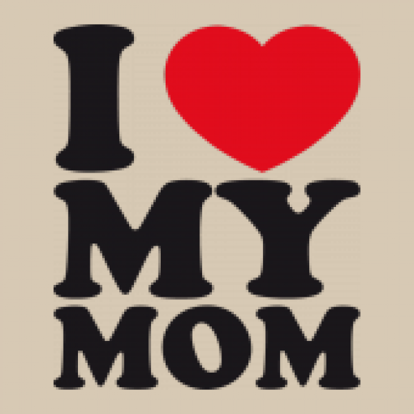 Jutebeutel Natur I LOVE MY MOM