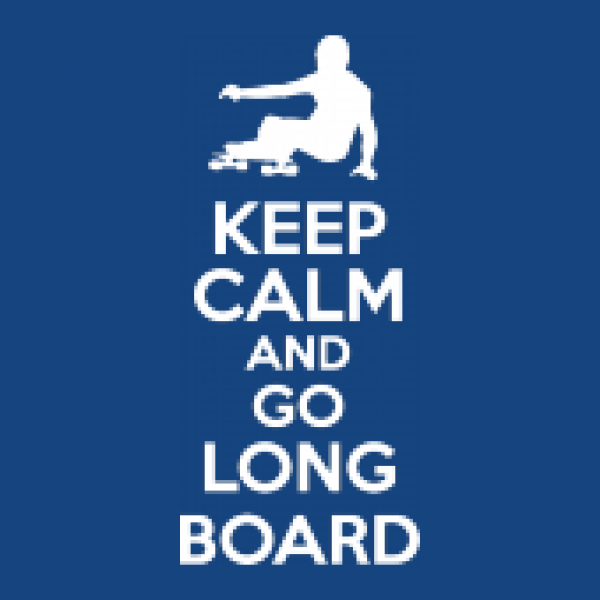 Turnbeutel Keep Calm And Go Longboard