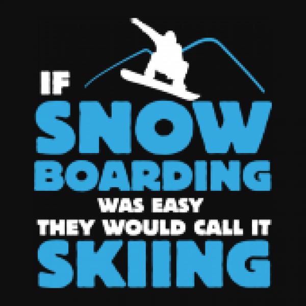 Jutebeutel Earth Positive If Snowboarding Was Easy