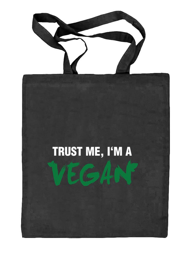 trust me, i'm a vegan jutebeutel | shirtstreet