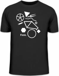 Herrenshirt Fixie Puzzle