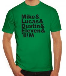 Herrenshirt Mike Lucas Dustin Eleven Will