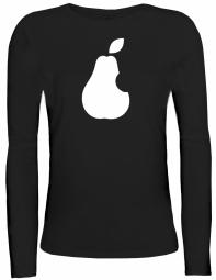 Shirtstreet24 Lady / Girlie Longsleeve Langarm T-Shirt BIRNE