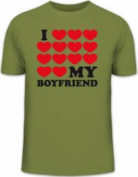 Herrenshirt I LOVE MY BOYFRIEND 3