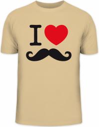 Herrenshirt I LOVE SCHNURRBART