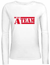Shirtstreet24 Lady / Girlie Longsleeve Langarm T-Shirt A-TEAM