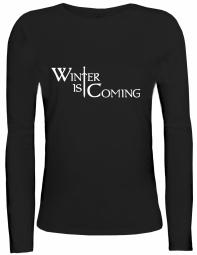 Shirtstreet24 Lady / Girlie Longsleeve Langarm T-Shirt SCHWERT WINTER IS COMING