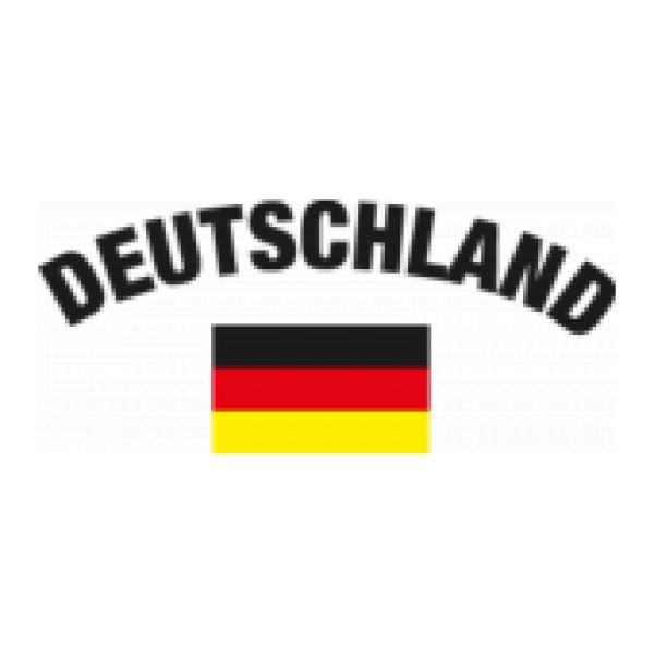 Herren Kapuzenpullover EM/WM 29 - Deutschland Flagge linke Brust