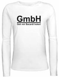 Shirtstreet24 Lady / Girlie Longsleeve Langarm T-Shirt Geh' Mir Bacardi holen!