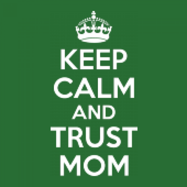 Jutebeutel Earth Positive Muttertag - Keep Calm and Trust Mom